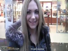 Cute blonde amateur teen...