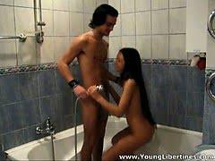 This teen brunette loves...